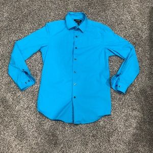 Men's Apt.9 Blue Button Down Shirt